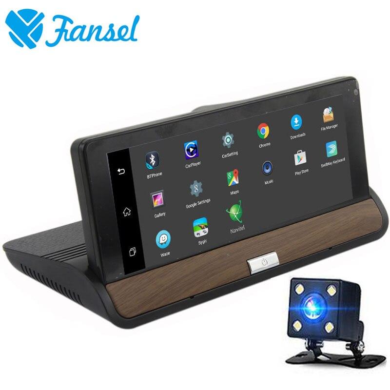 Fansel 7 Inch Android 5.0 GPS Navigation IPS 3G Wifi FHD 1080P Car DVR Mirror Camera Video Recorder Bluetooth Dual Lens Dash cam