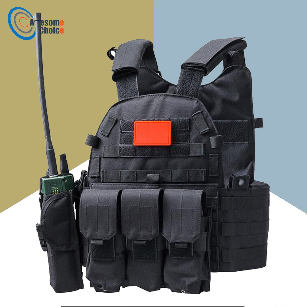 Airsoft Combat 600D Molle Tactical Vest Military Equipment Hunting Protective Vest Outdoor Training Paintball Carrier Vests hot selling jiepolly military vest four in one tactical vest top quality nylon airsoft paintball combat assault protective vest