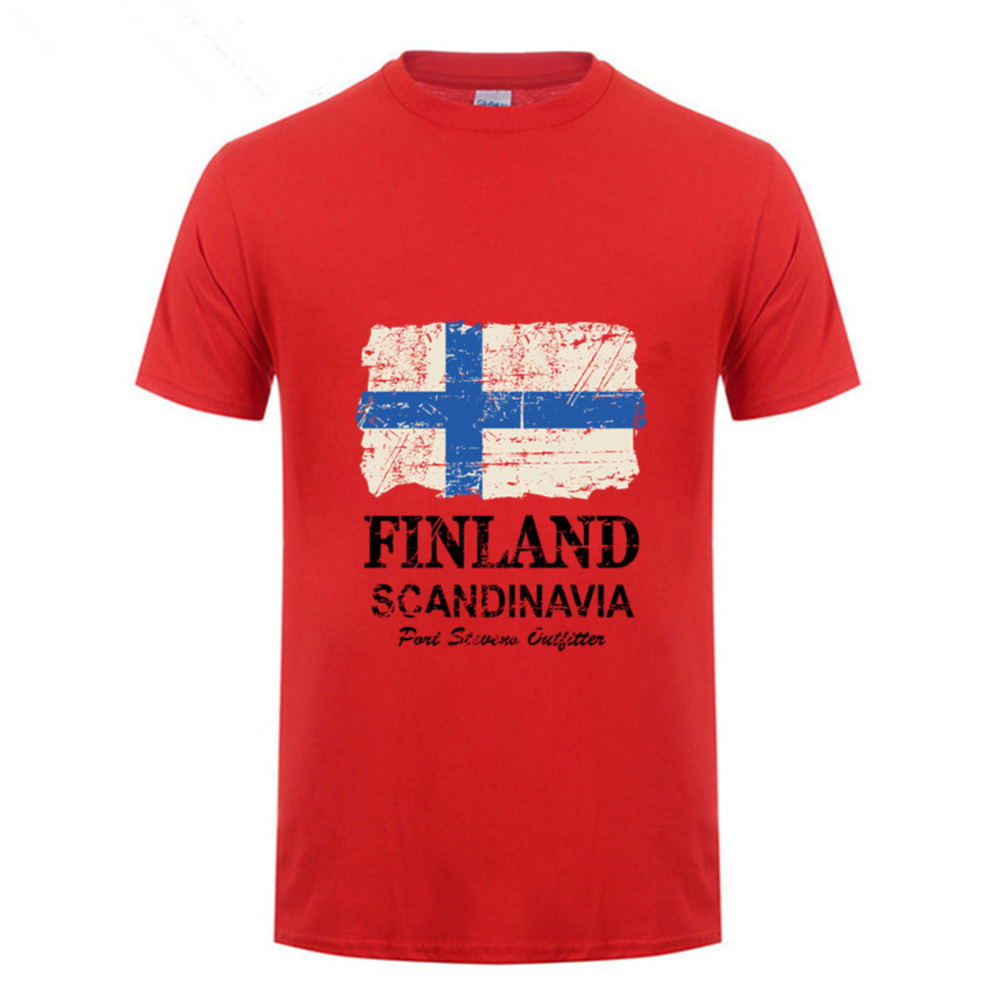 Hot Sale 2018 <font><b>Finland</b></font> <font><b>Flag</b></font> <font><b>shirt</b></font> Classic hand painted Short Sleeve Pre-cotton Vintage Men t-<font><b>shirt</b></font> Male <font><b>finland</b></font> nation t <font><b>shirts</b></font> image