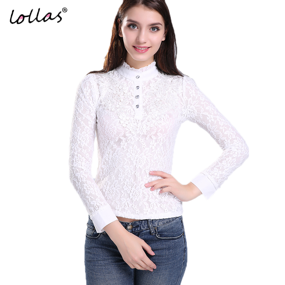 Lollas New Spring Summer Women White Long Sleeve Fashion