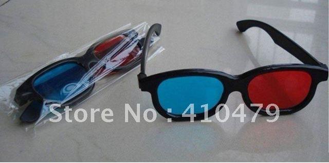 Pcs Lot D Red Blue Film Glasses For Adult Men Male Plastic Framed Red Blue