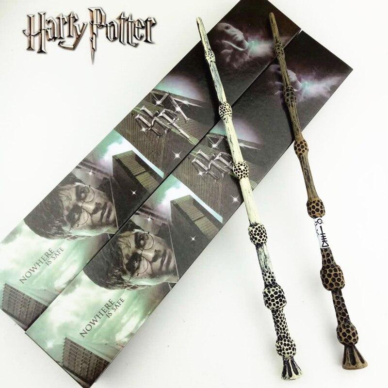 2 style Cosplay Albus Dumbledore Jouer Magique Baguette Magique Cadeau Dans la Boîte En Métal Core Harry Potter Baguette Magique