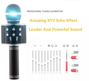 Image 4 - Bluetooth mikrofon WS858 Handheld Wireless Karaoke Microphone Phone Player MIC Speaker Record Music KTV Microfone for iPhone PC