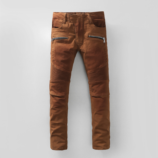 957d30be1e7d 2016 New Men Nightclubs brown Jeans
