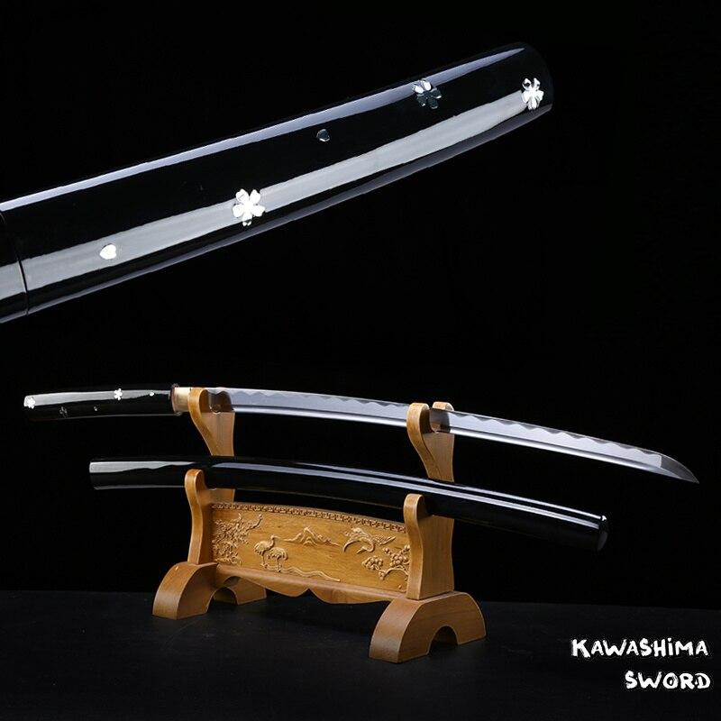Ev ve Bahçe'ten Kılıçlar'de Film Öldürmek O ring Ren Ishii Handforge Japon Samuray Ruhu Katana Ninja Kılıç 1045 Karbon Çelik Yeni marka'da  Grup 1