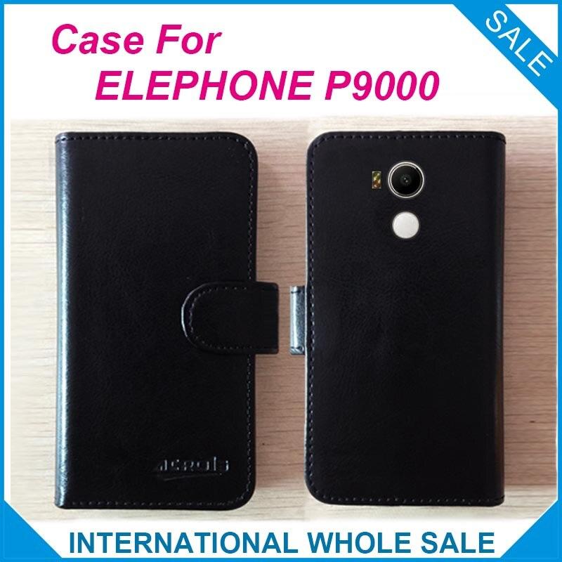 Hot! ELEPHONE P9000 Cas Téléphone, nouvelle Arrivée Prix Usine Flip En Cuir Étui Exclusif Pour ELEPHONE P9000 Cas numéro de suivi