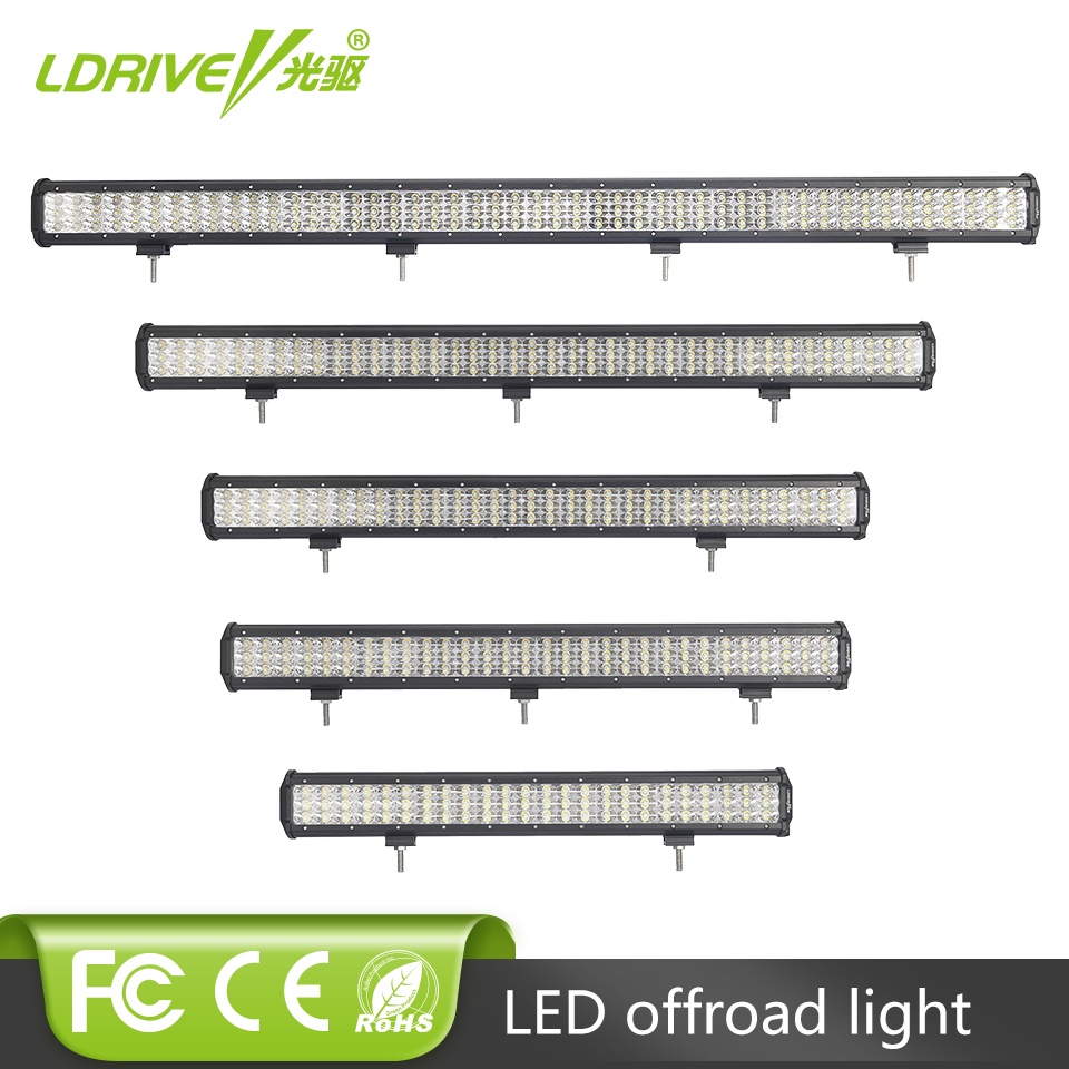 23 28 31 37 45 Inch Car Offroad LED Work Light Bar For Truck Trailer Van Camper Pickup 12V 24V Off Road Lamp 216W 270W 351W 432W
