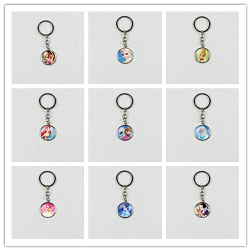 Frozen Princess Fashion Glamour Crystal Keychain Boys And Girls Children Gift Jewelry Keychain