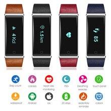 Новое поступление 2017 года сердечного ритма трекер браслет Здоровый Спорт Смарт Браслет QS60 для IPhone Xiaomi Sony Huawei наручные часы