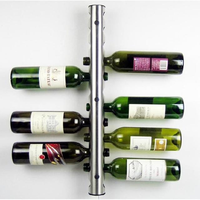 European Stainless Steel 8   12 Holes Wine Rack Storage Organizer Beer  Wisky Holder Display Stand