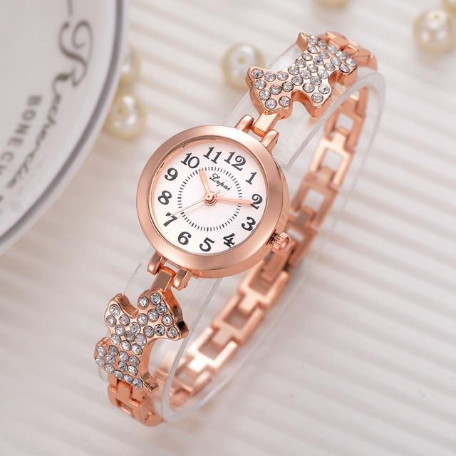 Lvpai Brand Luxury Women Bracelet Watch Fashion Casual Dog Band Women's Dress Wr
