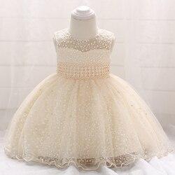 Vestido de festa para meninas, vestido de festa para bebês recém-nascidos, batismo, vestido para casamento, miçangas l1859xz