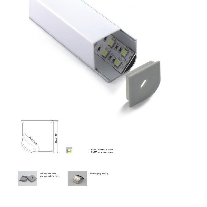 2 M Große Größe Ecke Montieren Led Streifen Aluminium Profil, High Power Jumbo Aluminium Led Profil Mit Traditionellen Methoden