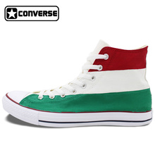 Flag of Hungary Converse All Star Hand Painted Shoes High Top Canvas Sneakers Men Women Unique Christmas Gifts
