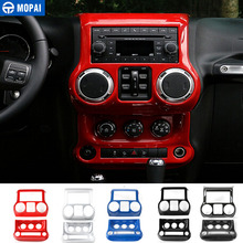 Mopai Abs Car Center Console Dashboard Airconditioner Schakelaar Decoratie Gear Panel Cover Sticker Voor Jeep Wrangler Jk 2011 +