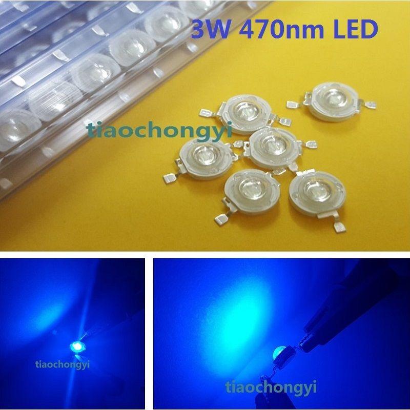 1000PCS 3W Blue High power LED Emitter 470nm 700mA 3.6V LED light-emitting diod