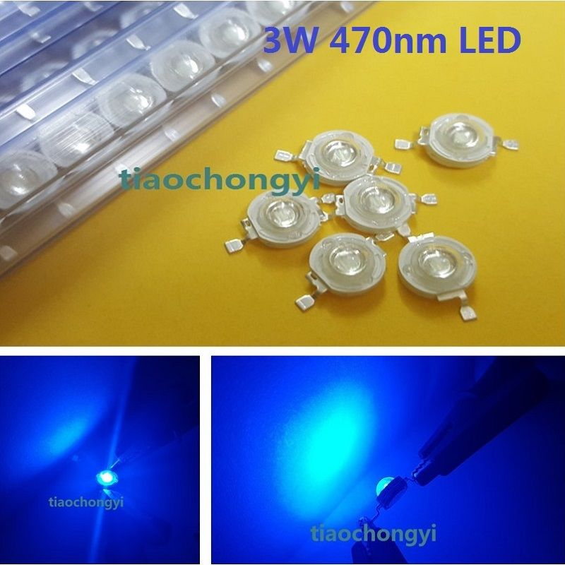 1000PCS 3W Blue High power LED Emitter <font><b>470nm</b></font> 700mA 3.6V LED light-emitting diod image