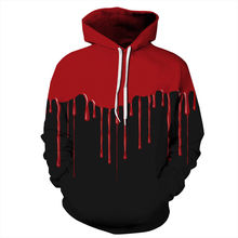 Halloween 3D Hoodies Men Women Hooded Sweatshirt Drops Blood Print Casual Loose Thin