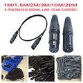 1 м/2 м/3 м/5 м/10 м/20 М Длина 3-контактный Сигнал подключение DMX Кабель Для Свет Этапа Освещение Аксессуары DMX512 Линия