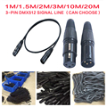 1m/2m/3m/5m/10m/20 Meter Length 3-pin Signal Connection DMX Cable For Stage Light Lighting Accessories DMX512 Line