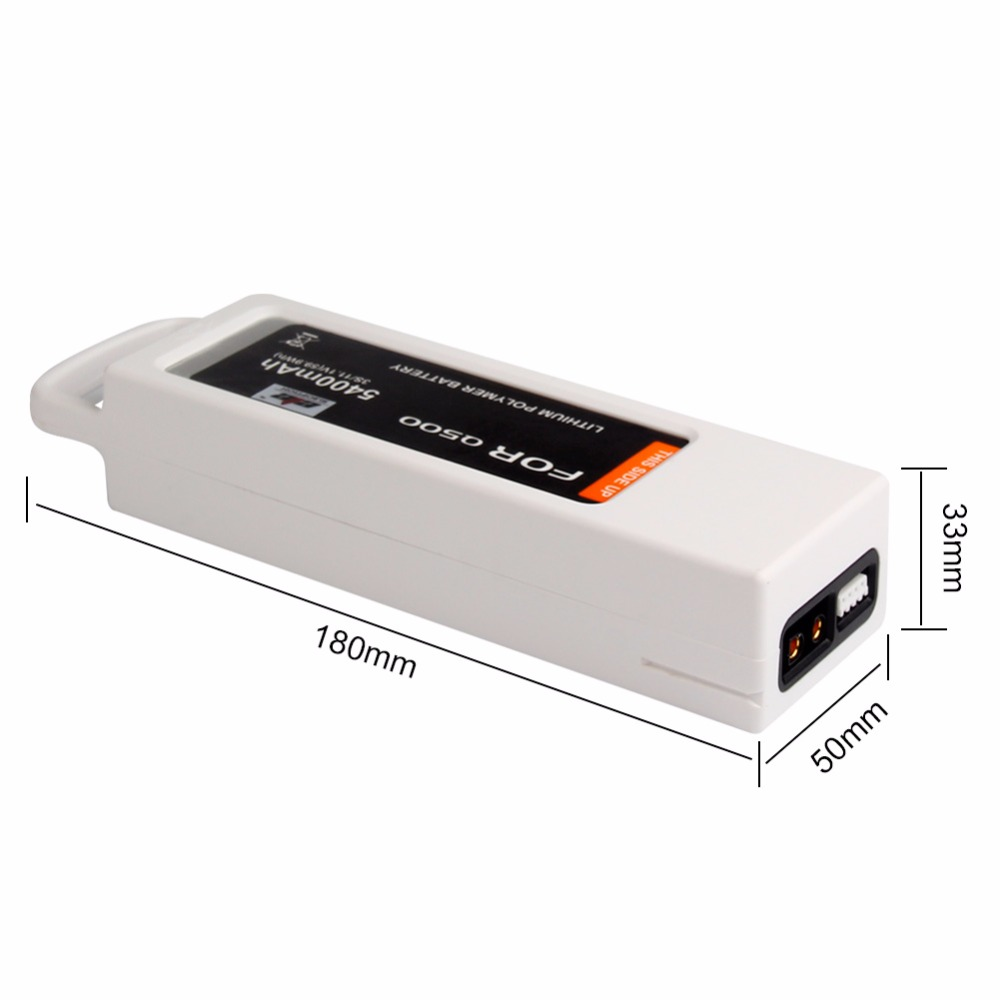 High Quality 5400mAh LiPo 4K 3S 11.1V 3C LiPo Battery for Q500, Q500+ and Q500 Quadcopter