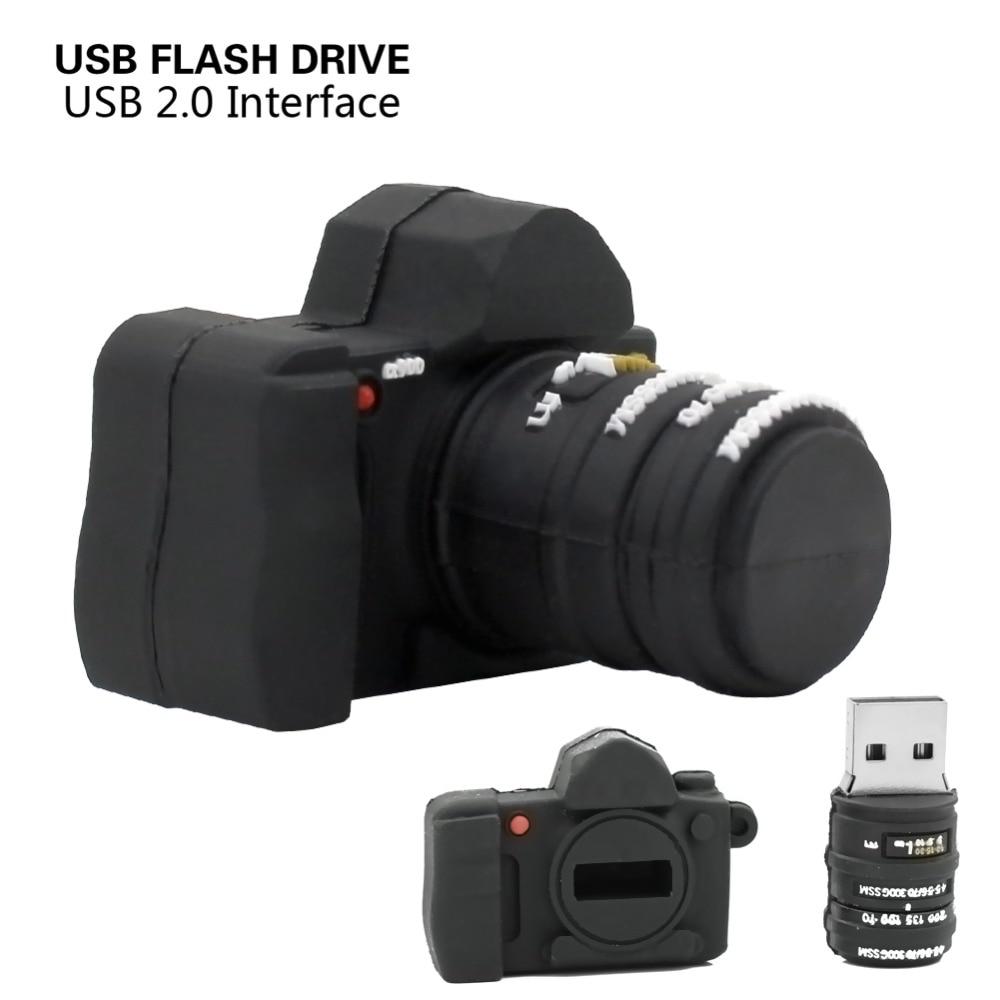 usb flash drive pen drive USB 2.0 Flash pendrive 4GB 8GB 16GB 32GB Mini black camera Memory stick lovely U Disk with logo