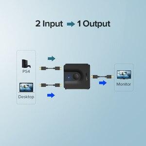 Image 5 - Ugreen HDMI dağıtıcı anahtarı çift yönlü 4K HDMI Switcher 1x 2/2x1 adaptörü 2 in 1 out dönüştürücü PS4/3 TV kutusu HDMI dağıtıcı