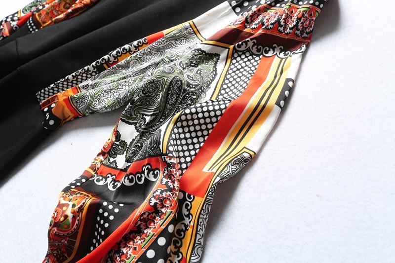 Manches Naturel 3xl Complète A Genou Appliques Stand longueur L Hiver ligne Col 2018 Imprimer Samgpilee Black Femmes Casual Robes Mode Nouveau xO8wS1Sq4