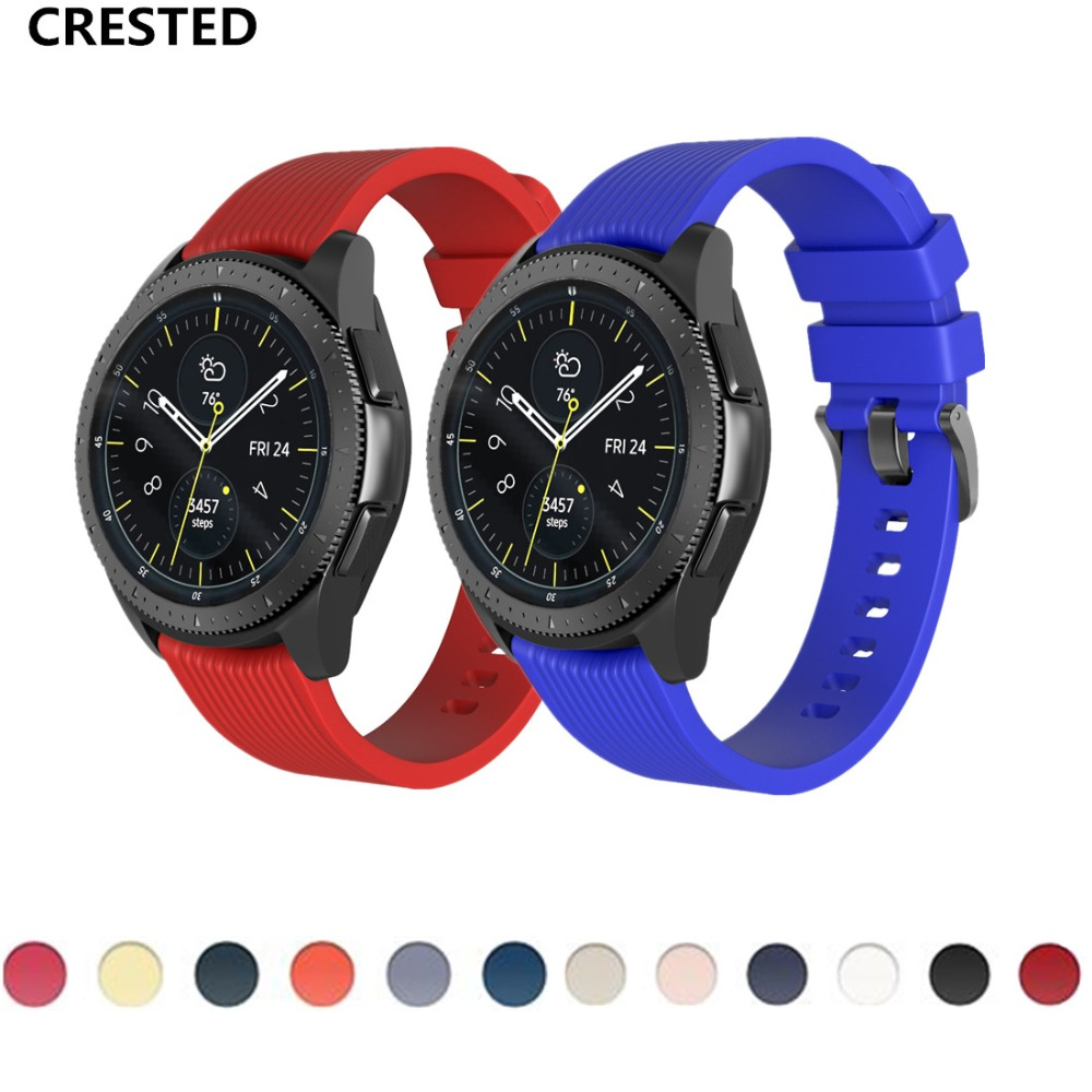 CRESTED Gear <font><b>S3</b></font> <font><b>Frontier</b></font> strap For <font><b>Samsung</b></font> Galaxy Watch 46mm 42mm band S 3 classic S2 20mm 22mm Sport Bracelet <font><b>smartwatch</b></font> correa image