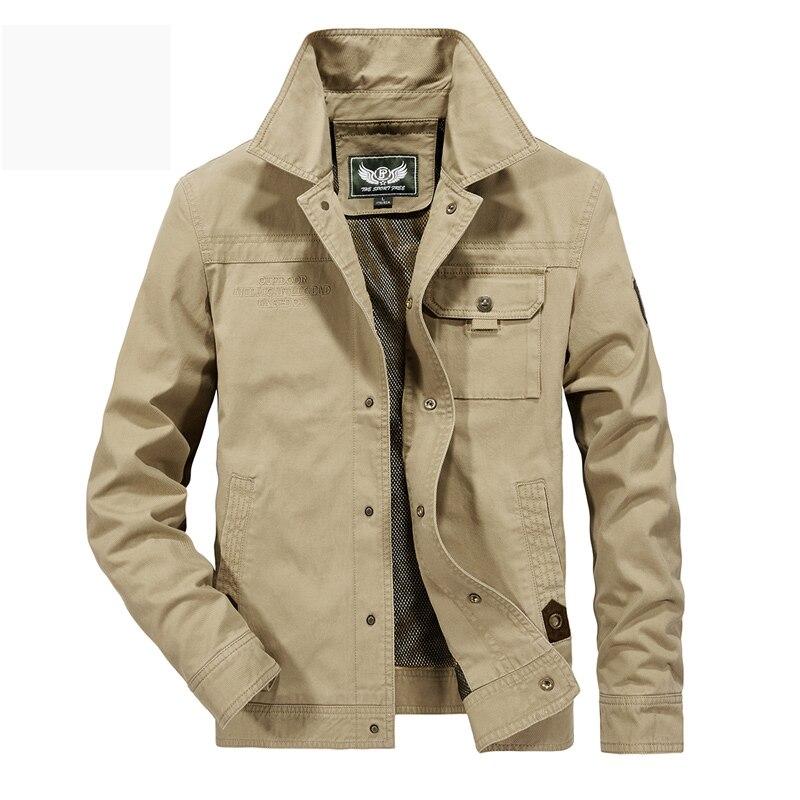 AFS JEEP chaqueta hombres militar abrigo sólido hombre otoño chaqueta Casaco Masculino Casual marca chaquetas hombres Outwear más talla 5XL 6XL-in Chaquetas from Ropa de hombre    3