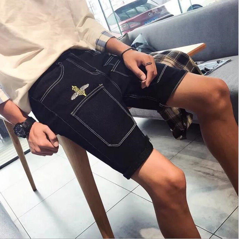 1Pcs Mens denim shorts Fashion casual shorts Trend hip-hop shorts new