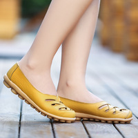 Women S Flats Genuine Leather Flat With Superstar Oxford Shoes Women Loafers Casual Ballet Summer Shoes