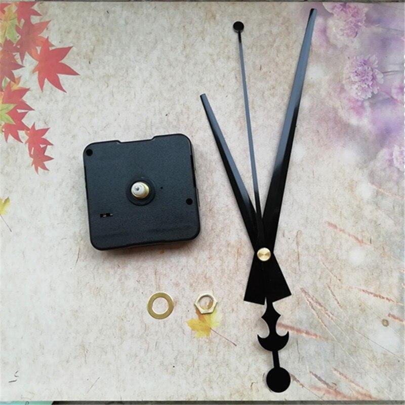 12MM Shaft Sweep 50PCS Clockwork for Quartz Clock Accessories with Black Clock Hands DIY Kits