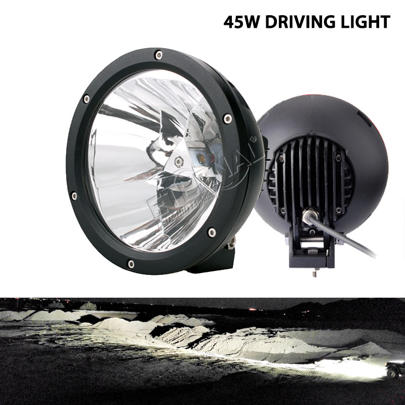 8pcs 45W round headlight led driving light Cannon 6.7inch Vision led work light for 4x4 off-road wrangler rubicon JK CJ SUV