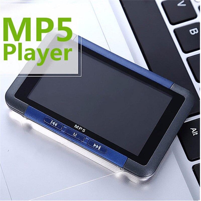3 ''מגע זיכרון פלאש נגן מדיה וידאו MP5 מוסיקת טון 8/16 GB MP4 MP3 רדיו FM מקליט מסך LCD Slim באיכות גבוהה כחול