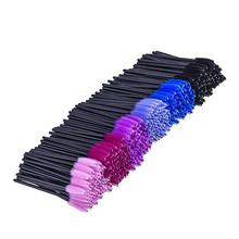 1Pack Multicolor Disposable Makeup Eyelash Brush Mascara Wands Eye Lash Tool Applicators Kit