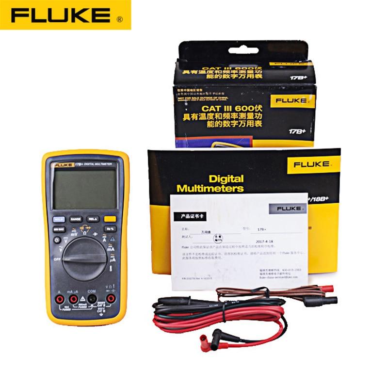 Original Fluke 15B +/17B +/18B +/12E + Plus + Auto Digital rango multímetro DMM AC/DC/diodo/R/C/probador de voltaje de corriente - 4