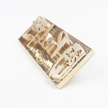 custom brass leather stamping mould DIY personalized brand logo heating mould