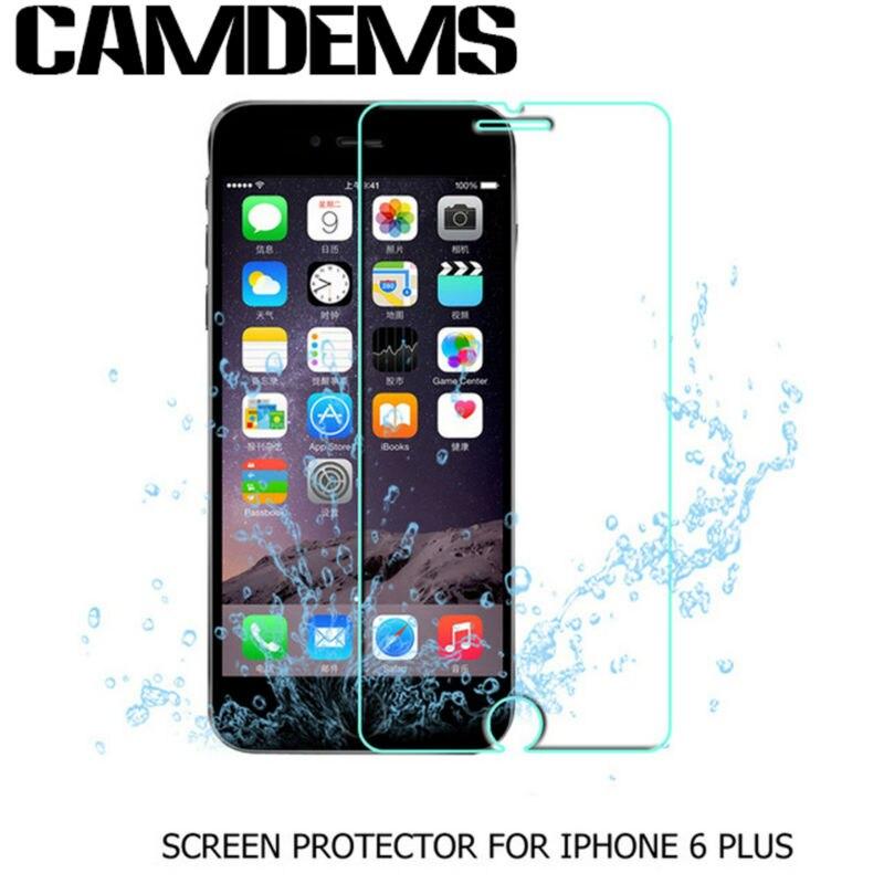 imágenes para CAMDEMS 100 unids/lote 2.5D 9 H 0.3mm protector de pantalla de cristal templado para iphone 7 7 plus 6 más 6 s más 6 s 5S 4S a prueba de explosiones