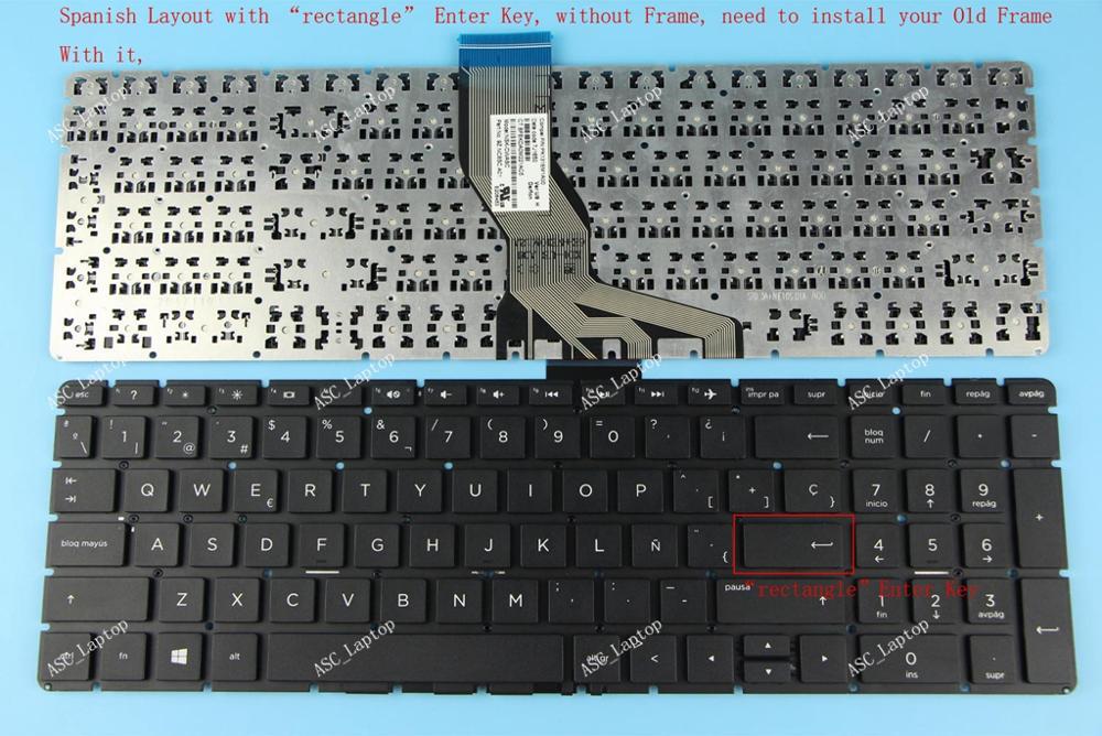 New For HP 15-bs011la 15-bs012la 15-bs013la 15-bs014la keyboard Latin Spanish