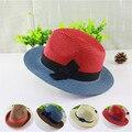 2015 moda de Playa vestido de sol visera del sombrero femenino del verano sombreros de sun para las mujeres de ala ancha de paja de sol sombrero de la playa al por mayor
