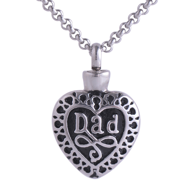 Dad in heart memorial pendant stainless steel pendant necklace dad in heart memorial pendant stainless steel pendant necklace cremation ashes pendant engraved jewelryly021 mozeypictures Images