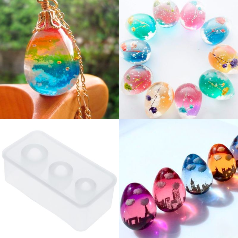 Silicone Mold Egg Molds UV Epoxy Resin Crafts DIY Jewelry Making Cake Decoration Home Ornaments Handmade Chocolate Fondant Tools