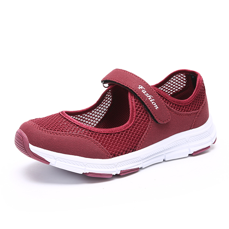 DQG 2018 Spring Women Shoes Summer Mom shoes Breathable Casual Shoes walking Sneakers summer outdoor walking shoes women sneakers breathable flat mesh vulcanize shoes fashion comfortable women casual shoes ddt103