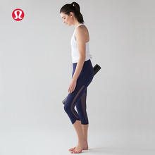 LULULEMON 2017 new arrive breathable Net yarn yoga pants black or deep blue for women KZ0013(China)