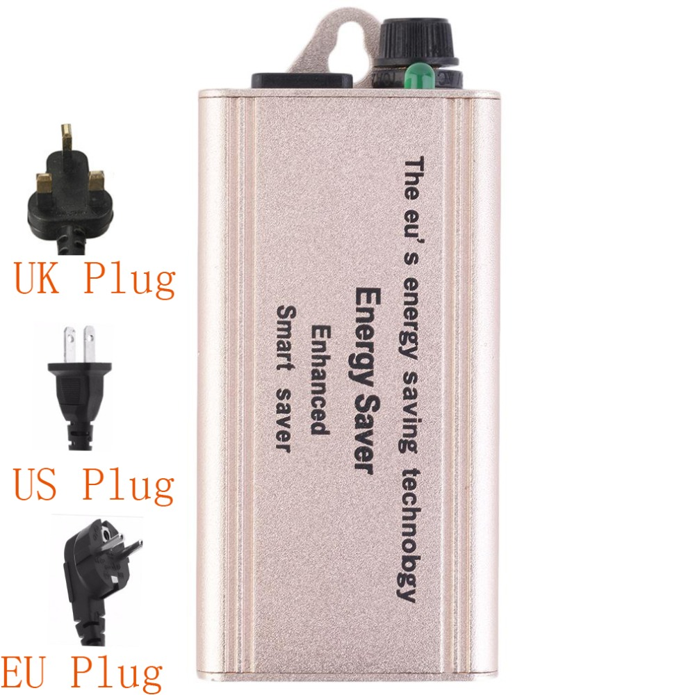 Smart Electricity Enhanced Saving Box Power 30%-40% 30KW Energy Saver + US /EU/UK Plug Reduce Current Wave Form Distortion