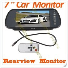 Car DVD player  7″ Color TFT LCD mirror monitor  auto Camera DVD VCR Car camera car video free shipping