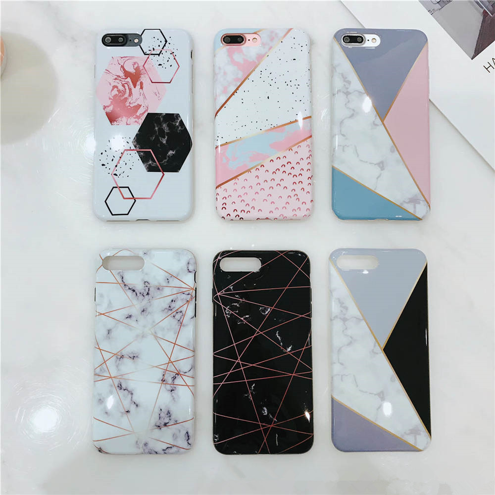 New Marble For Iphone 66S 6P78 8P X Xs Xr Xsmax Black And White Color Drop Proof Marble Phone Case in Fitted Cases from Cellphones Telecommunications