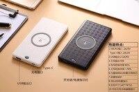 10 sztuk Qi Bezprzewodowa Ładowarka Banku Mocy 6000 mah USB Akumulator Powerbank Dla iphone7 7 plus 6 s samsung S7 S8