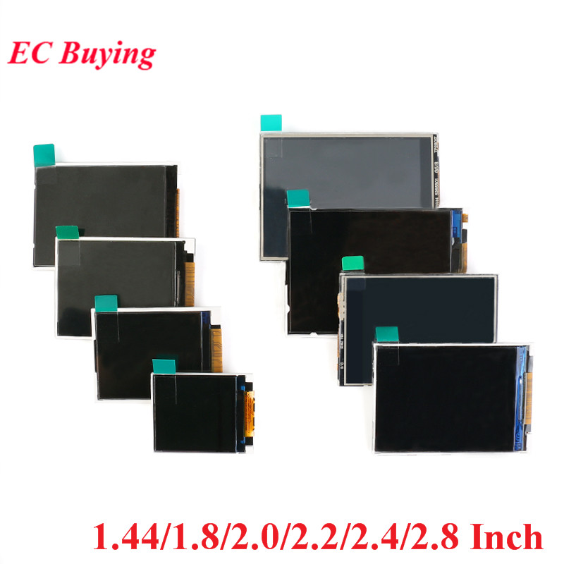 1.44/1.8/2.0/2.2/2.4/2.8 Inch TFT Bare Screen LCD Display Module Drive ST7735 ILI9225 ILI9341 Interface SPI 128*128 240*320